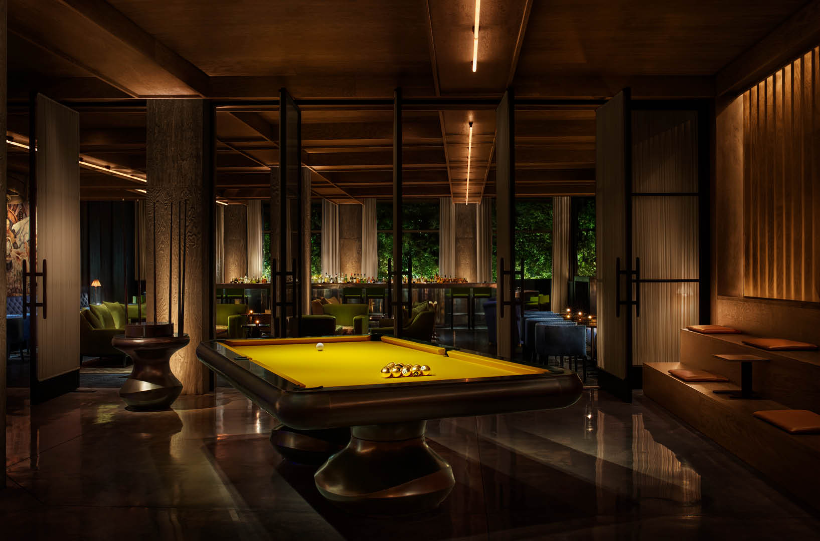 PUBLIC Hotel New York City An Ian Schrager Hotel Restaurants And - Pool table nyc